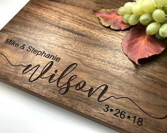 Personalized Cutting Board Personalized Custom Cutting Board Wedding Gift Cutting Board Engraved Cutting Board Anniversary Cutting Board