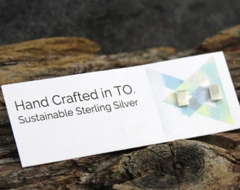 Spirit of vera by spiritov on etsy square geo stud sustainable sterling silver handmade in canada eco friendly fair trade reheart Images