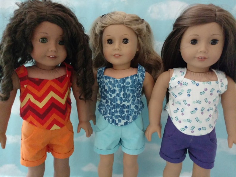 "18/"" Doll Top /& Shorts fits 18 inch American Girl Doll Clothes 981abc"