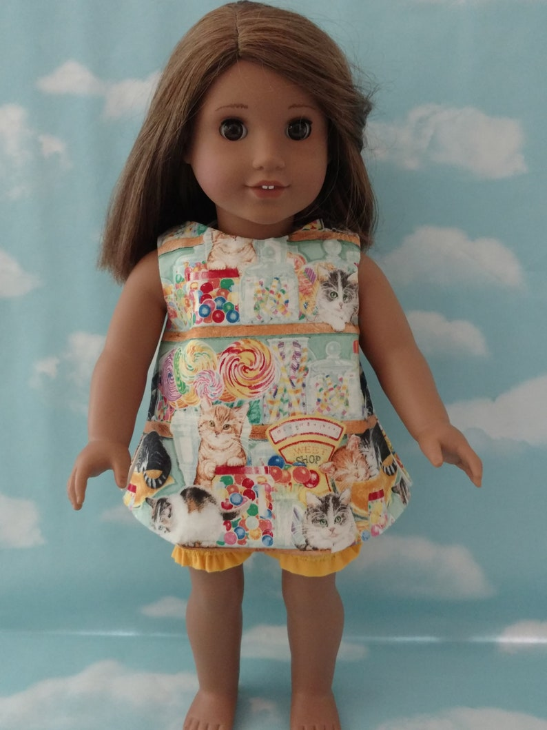 """18/"""" Doll Top /& Shorts fits 18 inch American Girl Doll Clothes 981abc"""
