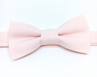 Blush Bow Tie Sent 1-3 business days after you order