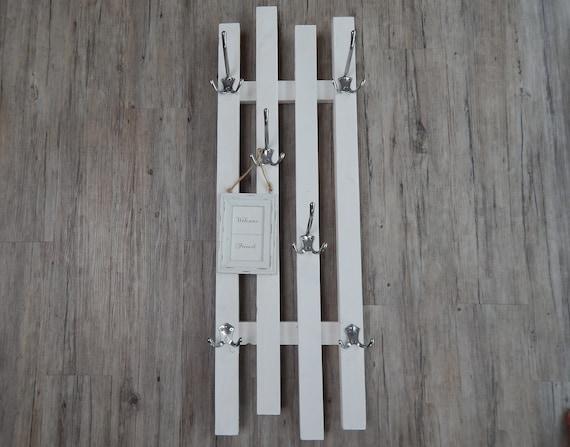 Garderobe Schmal Haken Variabel Weiss 33x94cm Etsy