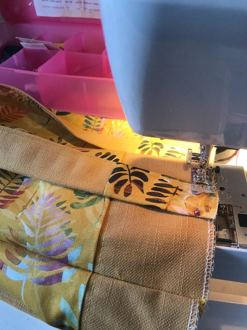 Shoulder Tote bag Fabric linen and cotton mix . Medium sized Autumn Colours