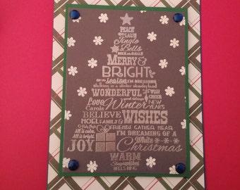 Tree Phrase Christmas Card