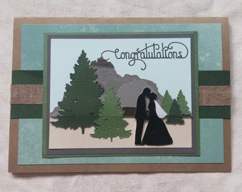 Mountain Rustic wedding card