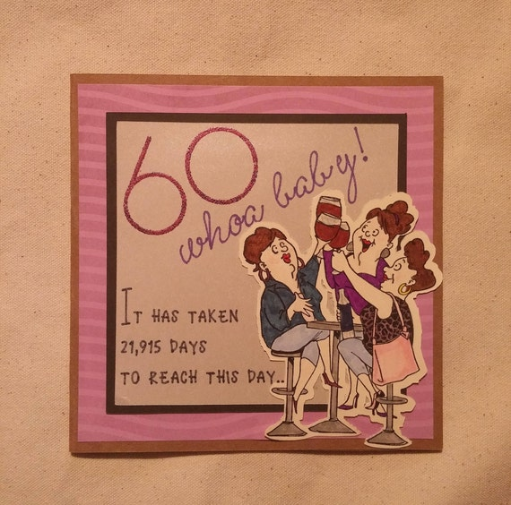 60th Birthday Card For Female Friend