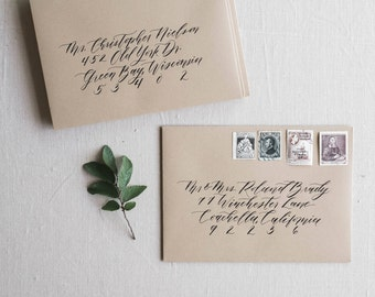 Envelope Calligraphy Addressing, Envelope Address, Modern Calligraphy, Wedding Calligraphy - Little Carabao Studio #FO120