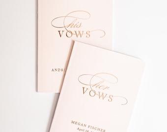 vow books, wedding vow book, vowbook set, vowbooks, foil vow book, booklet - Little Carabao Studio #CM01VBF