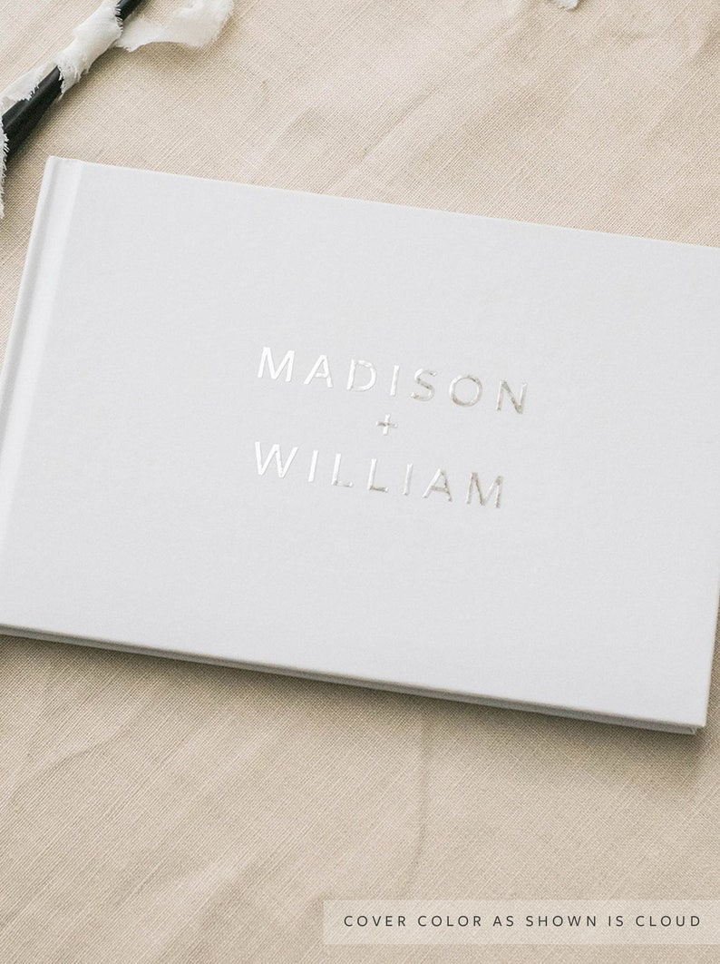 silver wedding guest book guestbook foil guest book guest image 0