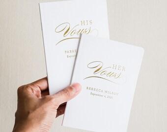 vow books, wedding vow book, vowbook set, vowbooks, foil vow book, booklet - Little Carabao Studio #TR01VBF