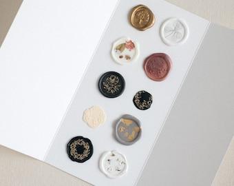 Mystery Wax Seal Stickers, Self-Adhesive Wax Seals, Invitation Wax Seal Stickers,