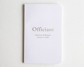 personalized officiant book, wedding officiant book, officiant notebook - Little Carabao Studio #CS01OB