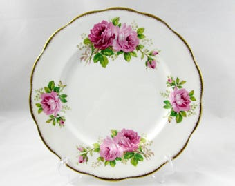 Royal Albert American Beauty Dinner Plate, 10.25 Inches, Vintage Bone China