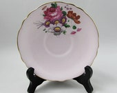 Orphan Saucer, Lilac Color with Floral Bouquet, Paragon Replacement Saucer, Saucer ONLY, No Tea Cup, Double Royal Warrant, Purple Pink