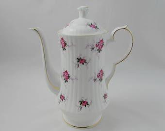 Coffee Pot, Chocolate Pot, Teapot, Vintage, Small Roses, Hammersley Princess House