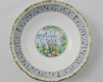 Silver Birch Cereal Bowl, Royal Albert Vintage Bone China, 6 Inch Bowl