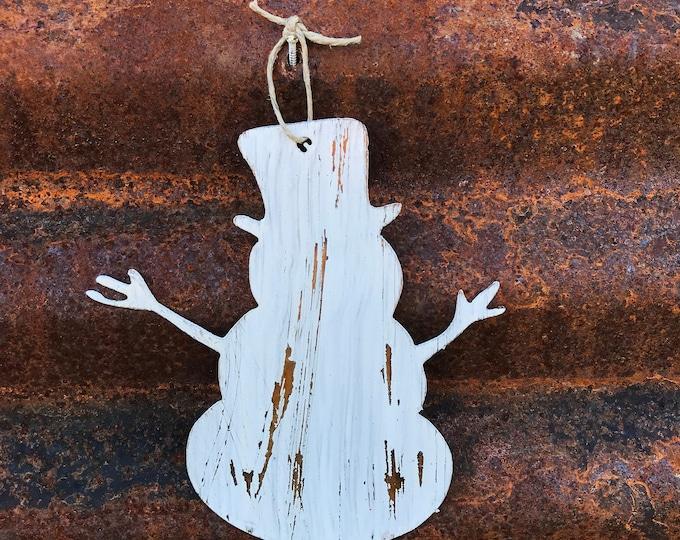 SNOWMAN Christmas Ornament | Rustic Metal Christmas Decor | Rustic Holiday Ornaments | Tree decor | Christmas tree |Farmhouse Decor