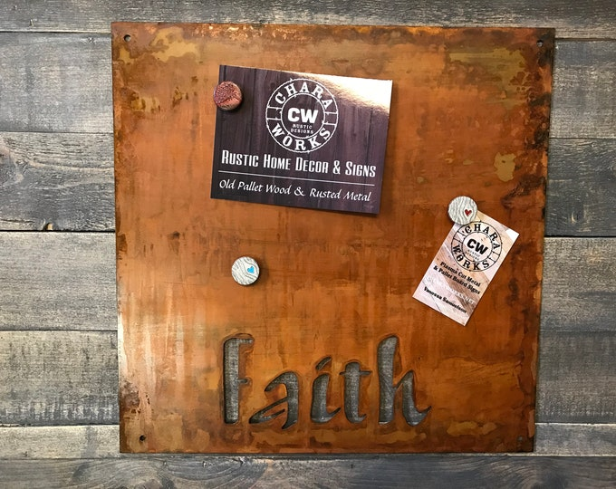 Magnet Board, Magnetic Boards, Bulletin boards, Office Message Board, Rusted Metal Sign, Thankful Sign, Organizational Board
