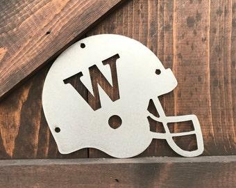 UW Football Signs, University of Washington, Sport team signs, College Football Metal signs, Football Helmet Decor, Man cave decor, Sports