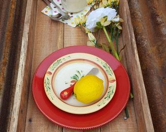 Rustic Wood Serving Tray | Rustic Decor | Farmhouse Style tray | Ottoman Tray | Table Tray | Pallet tray | Handmade Wood Tray | Large tray