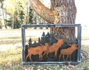 Vintage Window | Rustic Mountain decor | Moose Decor | Farmhouse Decor | Hunting decor | Rustic Home Decor | Cabin | Farm Decor | Woodland