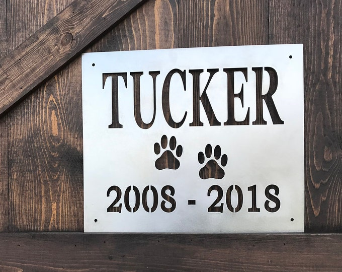 Dog Sign, Pet Name, Customized Metal Sign, Rustic Pet Signs, Rustic Home Decor, Pet Name Signs, Rustic Decor, Dog Name Signs, Dog decor