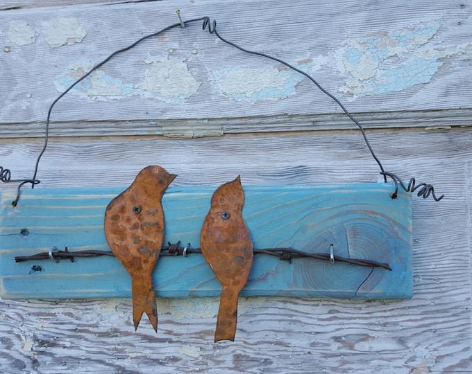 Wood Sign, Birds, Farmhouse Sign, Rustic Home Decor, Rustic Decor, Wall Decor, Country, Love Birds, Spring Decor, Rustic Sign, Metal sign