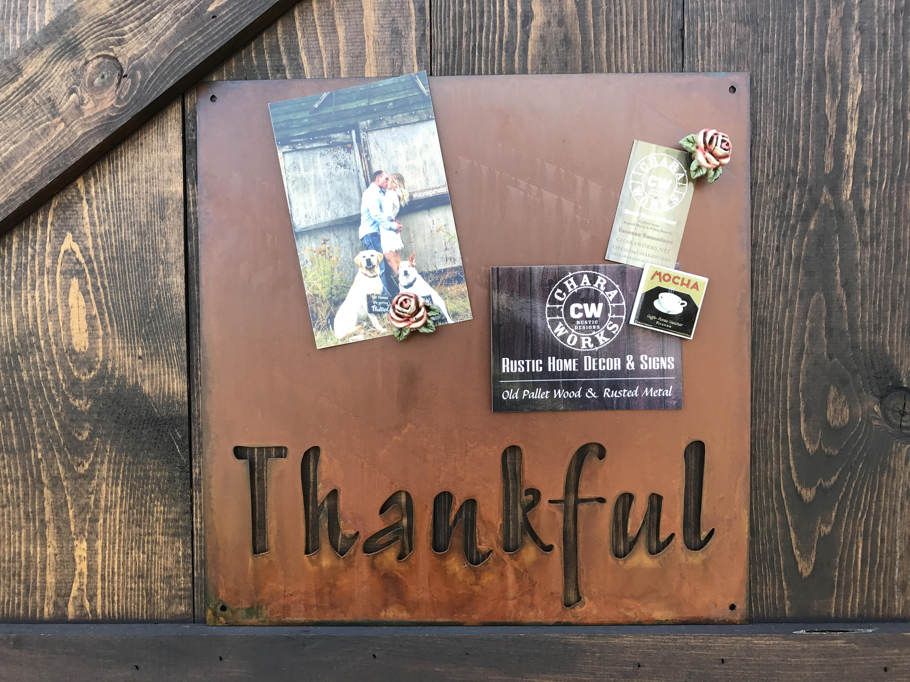Good Thankful Magnet Board, Magnetic Boards, Bulletin Boards, Office Message  Board, Rusted Metal Sign, Thankful Sign, Organizational Board