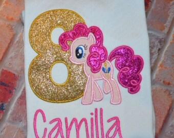 Embroidered Pony Birthday Shirt