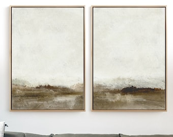Abstract Art Print Set, 2 Abstract Landscape Art, Printable Abstract, instant download, Dan Hobday Art. Minimal art Prints, 30x40 inches