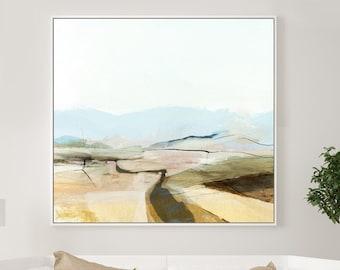 Large Abstract Landscape Painting, Dan Hobday Art, Large wall art, Neutral Landscape, Modern Wall Art, Printable Art,40x40 Square Wall Art