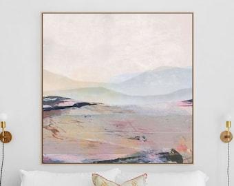 Large Landscape Wall Art, Landscape Painting, Large Wall Art, 40x40 Abstract Landscape, Landscape Print, Dan Hobday Art, Farmhouse decor