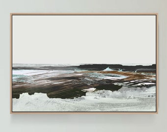 Large Abstract Landscape Painting, Dan Hobday Art, Large wall art, Neutral Landscape, Modern Wall Art, Printable Art,30x40 Beach Wall Art