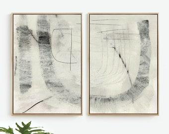 Abstract Print Set, Set of 2 Prints, Abstract Art Print Set, 24x36, Natural Abstract, Printable art Contemporary Wall Art, Large wall art