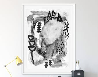 Abstract Painting, Scandinavian Modern, Printable Art, 16x20 print, Scandinavian Minimal Art, Monochrome Print, minimalist, instant download