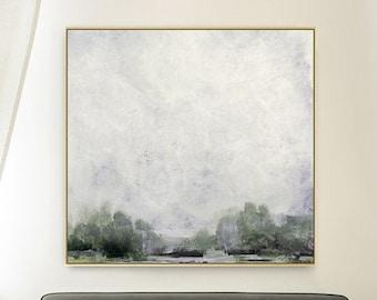 Large Landscape Painting, Dan Hobday Art, Large wall art, Abstract Landscape, Green Wall Art, Printable Art,40x40 Square Wall Art, Large Art