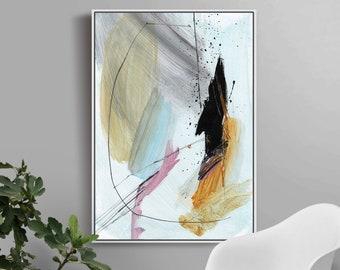 Printable Abstract Art, Large Modern Wall Art, Ochre Print, instant download art, 50x70 Print, Pink Wall Art, Large Wall Art, Dan Hobday