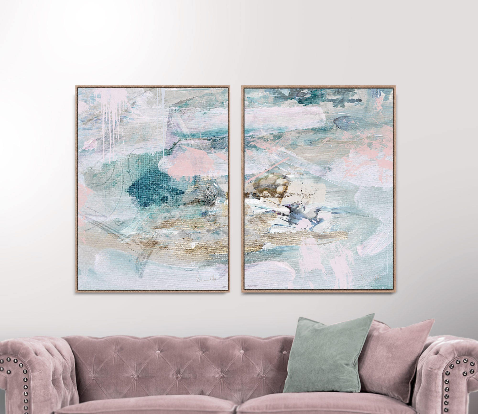 67c41b9485a Set of 2 Prints Abstract Art Prints Large Wall Art 30x40