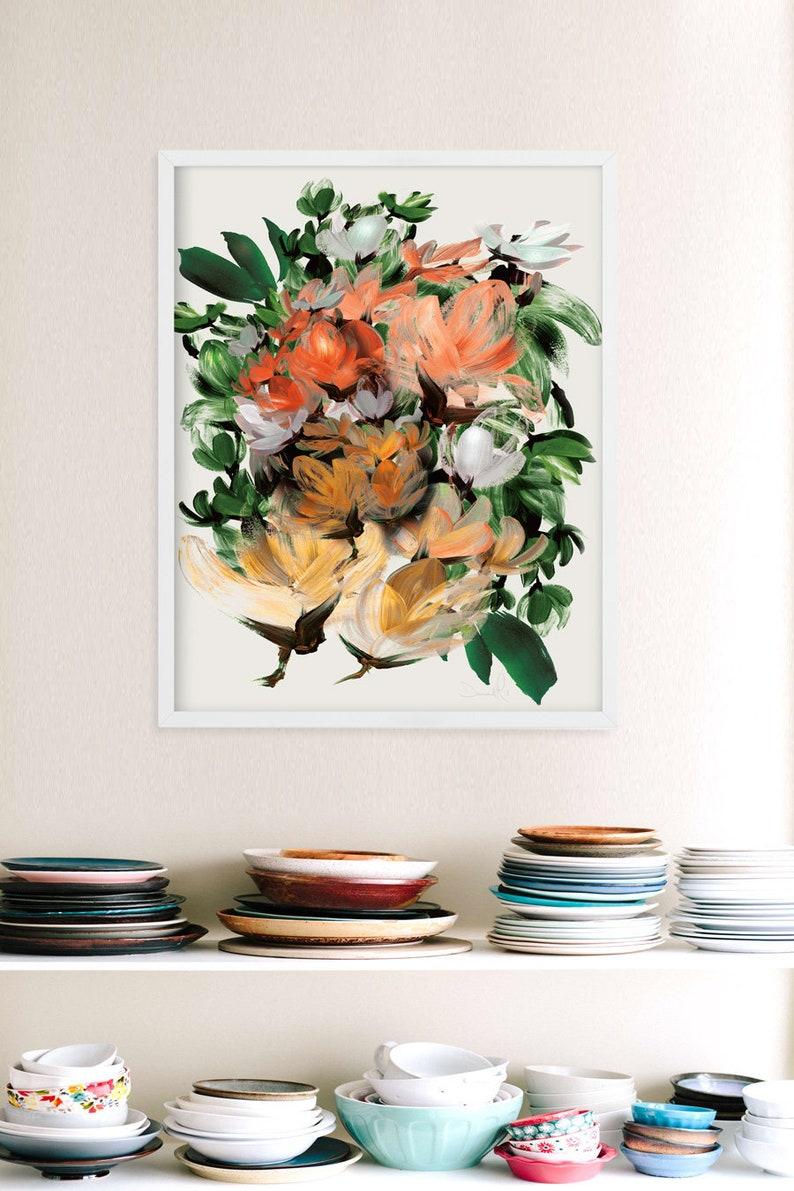 Floral Wall Art Print Printable Art Botanical Wall Art image 0