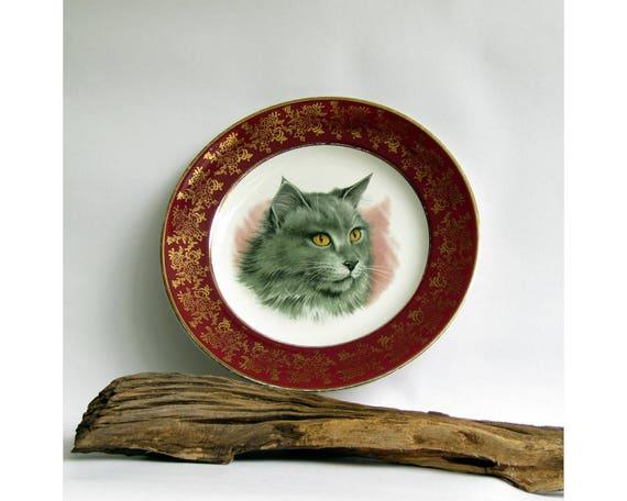 Zolla dell 39 annata gatto norvegese della foresta blu con etsy for Gatto della foresta norvegese