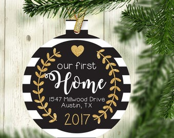 our new home ornament new house gift first home gift idea personalized home christmas ornament