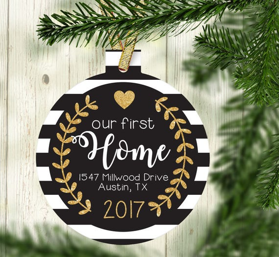 Our First Home Christmas Ornament.Our New Home Ornament New House Gift First Home Gift Idea Personalized Home Christmas Ornament