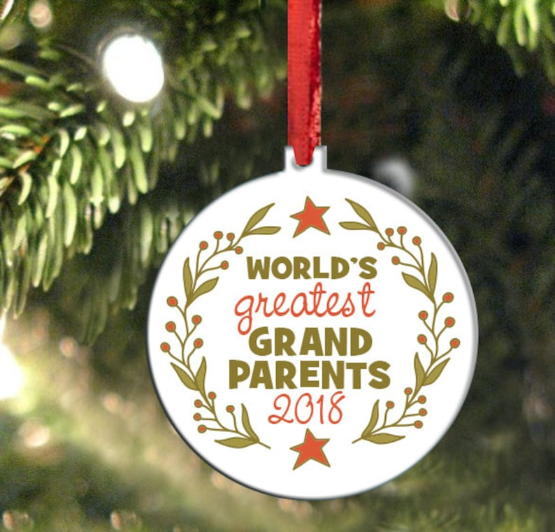 1c816ffbc0e0f Worlds Greatest Grandparents Ornament Christmas Ornament