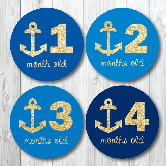 anchor monthly stickers baby month stickers photo op etsy