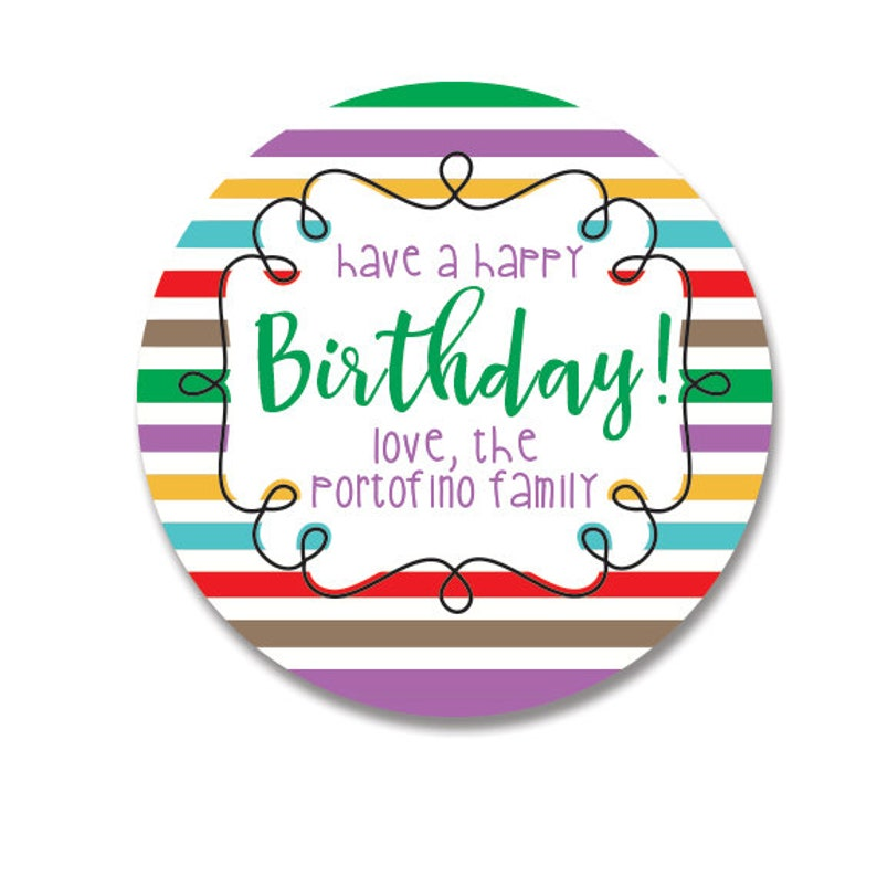 Happy Birthday Stickers Personalized Gift Tags For Presents
