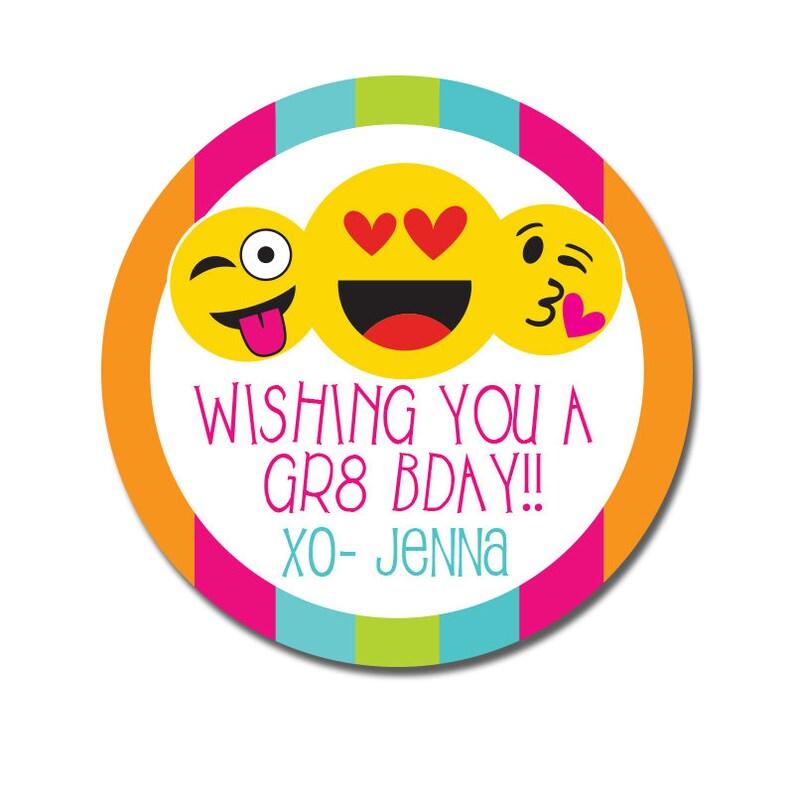 Birthday Stickers Happy Present Tags Emoji