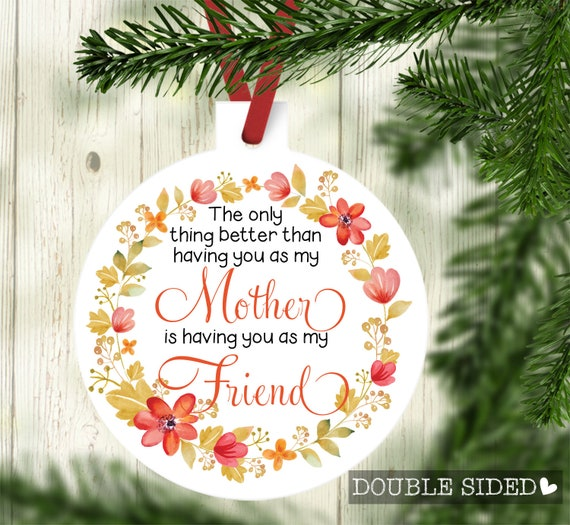 Mother Ornament Best Friend Is Mom Ornament Christmas Etsy
