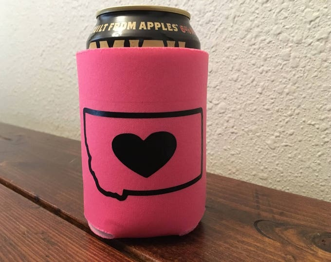 Montana Can Cooler- Montana with Heart
