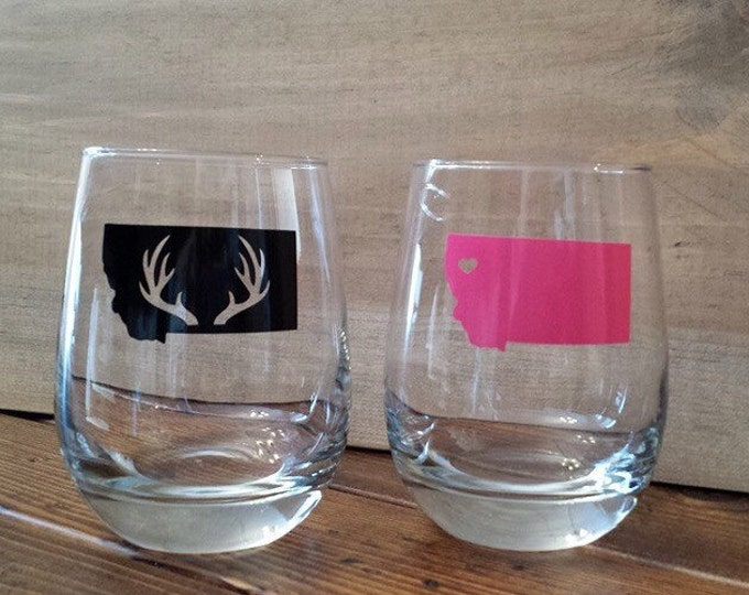 Stemless Montana Wine Glass