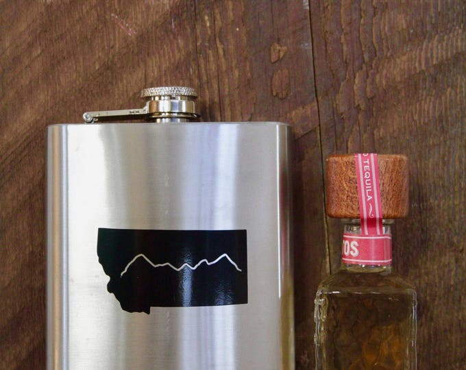 8oz Stainless Steel Montana Flask
